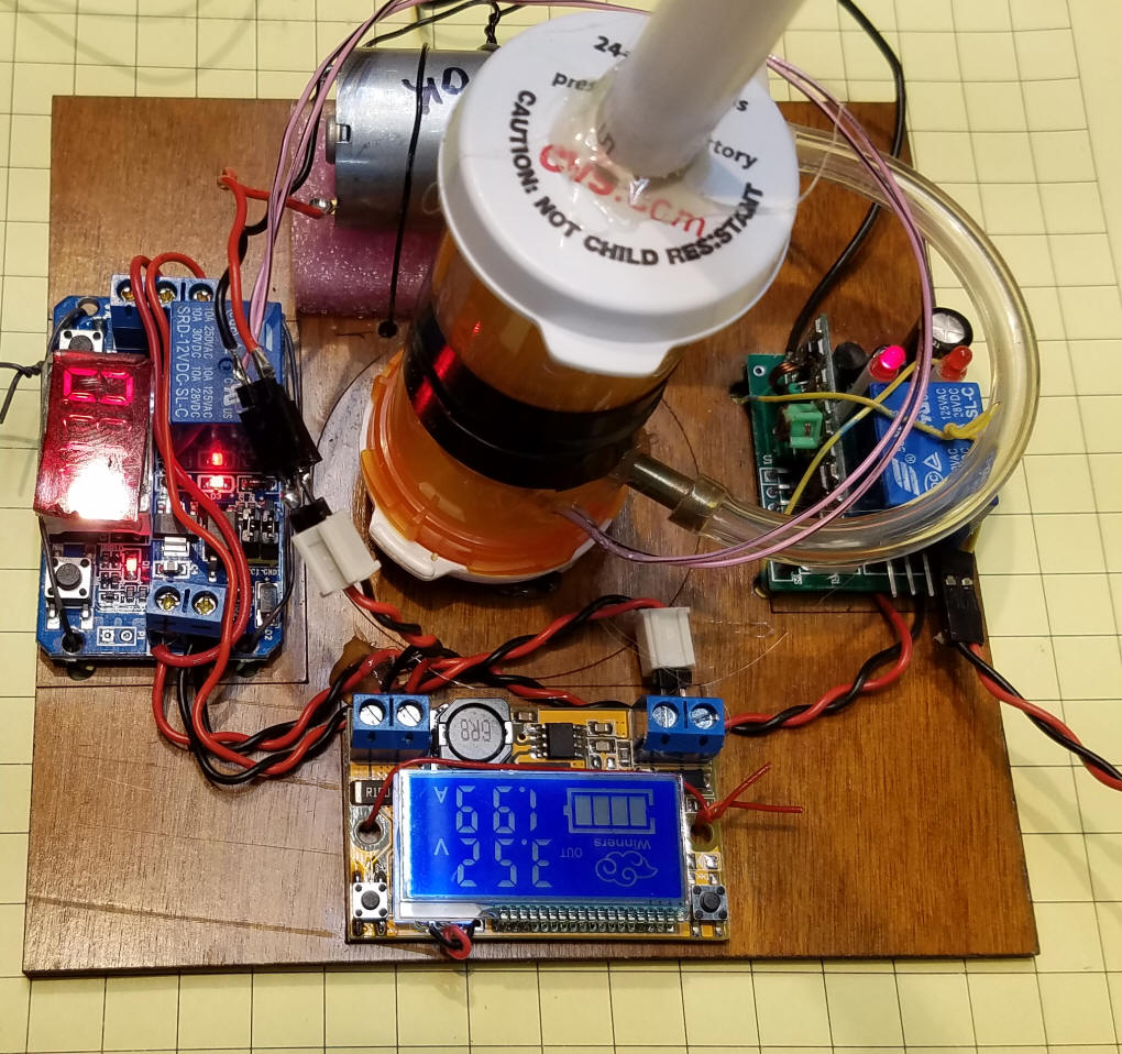 Electronics Trains4africa Page 2 Simple Circuit Board Rrcirkits Inc Home Drawing 199 Amps Quite A Bit Of Power The Timer Has 20 Seconds Remaining Air Pump Been Mounted On Foam Pad To Cut Down Noise And