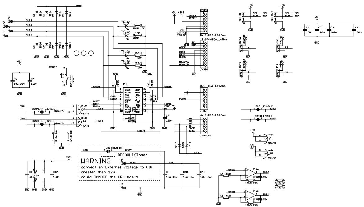 Current sensing arduino motor shield wiring diagrams