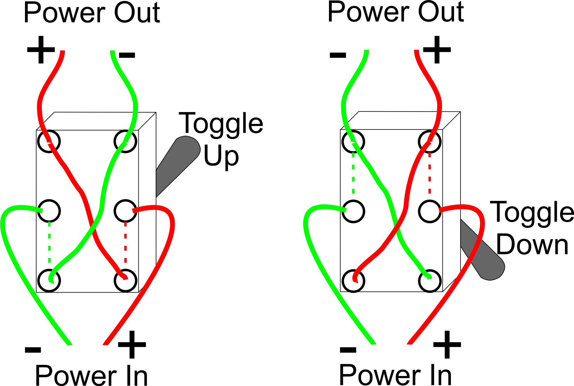 Build An Inexpensive Model Train Power Controller House Fan Switch Wiring Diagram Dpdt This Simple Schematic Shows The Of And
